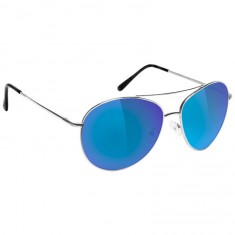 Glassy Daewon Sunglasses - Silver/Blue Mirror