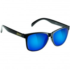 Glassy Deric Sunglasses - Black/Blue Mirror