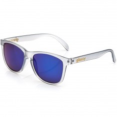 Glassy Deric Sunglasses - Matte Grey/Blue Mirror