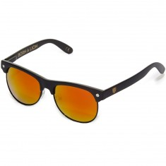Glassy Shredder Sunglasses - Matte Black/Red Mirror