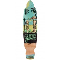 "Gravity 45"" Big Kick Tequila Sunrise Longboard Deck - Blue"