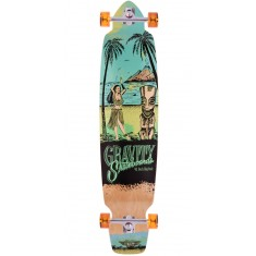"Gravity 45"" Big Kick Tequila Sunrise Longboard Complete - Blue"