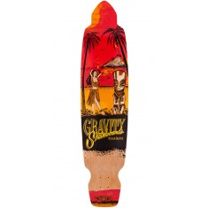 "Gravity 45"" Big Kick Tequila Sunrise Longboard Deck - Red"