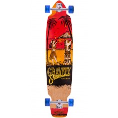 "Gravity 45"" Big Kick Tequila Sunrise Longboard Complete - Red"