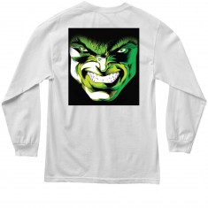 Grizzly X Hulk Emerge Longsleeve T-Shirt - White