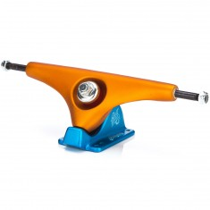 Gullwing Charger Longboard Trucks - Orange/Blue