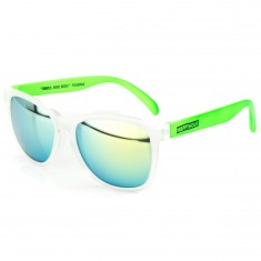 Happy Hour Justin Figgy Figuroea Shocking Greens Sunglasses - Clear Frost/Bright Green
