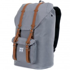 Herschel Little America Backpack - Grey/Tan PU