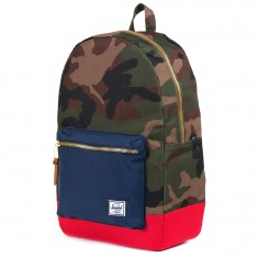 Herschel Settlement Backpack - Woodland Camo/Navy/Red