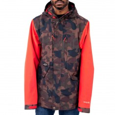 Holden Highland Snowboard Jacket - Camo/Poppy