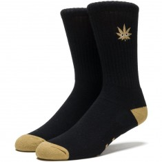 Huf Cmon Leaf Plantlife Crew Socks - Black