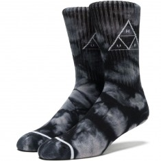 Huf Triple Tie Dye Crew Socks - Black