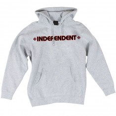 Independent Bar Cross Pullover Hoodie - Grey Heather