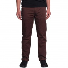 KR3W K Slim Chino Pants - Oxblood