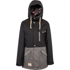 L1 Yoko Womens Snowboard Jacket - Black/Dark Grey