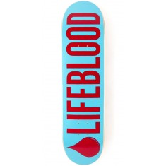 Lifeblood Logo Skateboard Deck - Light Blue/Brick - 8.00""