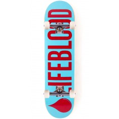 Lifeblood Logo Skateboard Complete - Light Blue/Brick - 8.00""