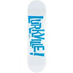 "Lurkville Logo Skateboard Deck - 8.25"" - White/Blue"