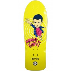 Madrid X Stranger Things Eleven Yellow Skateboard Deck