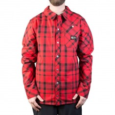 Neff Jeff Insulated Flannel Snowboard Jacket - Red