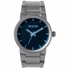 Nixon Cannon Watch - Gunmetal/Blue Crystal