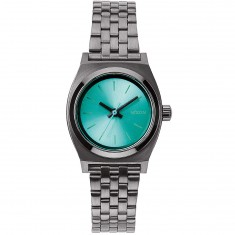 Nixon Small Time Teller Watch - Gunmetal/Light Blue