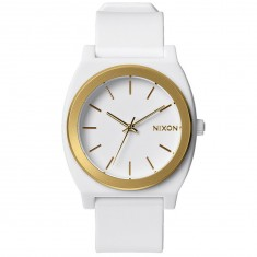 Nixon Time Teller P Watch - White/Gold Ano