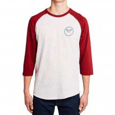 Brixton Wheeler 3/4 Sleeve Shirt - Heather Stone/Brick