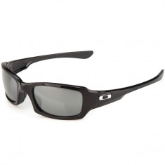 Oakley Fives Squared Sunglasses - Polished Black/Black Iridium Polarized