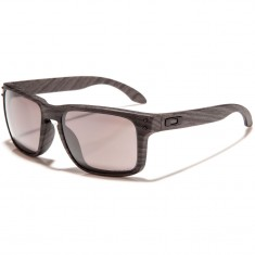 Oakley Woodgrain Sunglasses - Latch Woodgrain/Tungsten Iridium Polarized