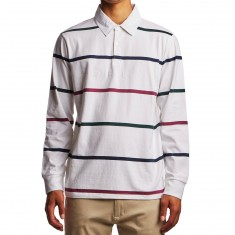 Obey Bridgewater Long Sleeve Polo Shirt - White/Multi