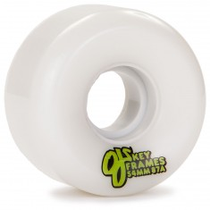 OJ Plain Jane Keyframe Skateboard Wheels 54mm - White - 87a