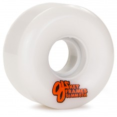OJ Plain Jane Keyframe Skateboard Wheels 56mm - White - 87a