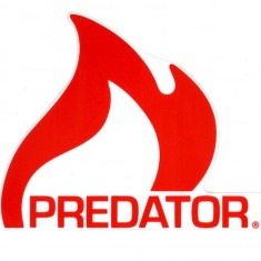 Predator Flame Logo Sticker - Red