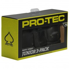 ProTec Street Gear Jr 3 Pack Pads - Black - SM
