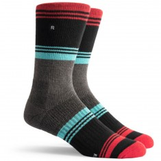 Richer Poorer Expressionist Athletic Socks - Red & Black