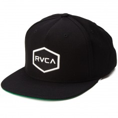 RVCA Commonwealth Snapback Hat - Black/White