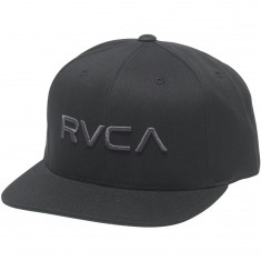RVCA Twill Snapback Hat - Black/Charcoal