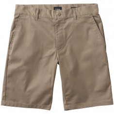 RVCA The Weekend Stretch Shorts - Dark Khaki