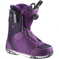 Salomon Ivy Womens Snowboard Boots - Night Shade Grey/White
