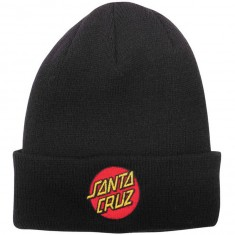 Santa Cruz Classic Dot Long Shoreman Beanie - Black
