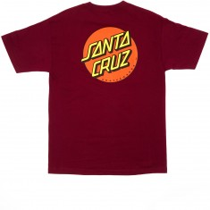 Santa Cruz Classic Dot T-Shirt - Burgundy