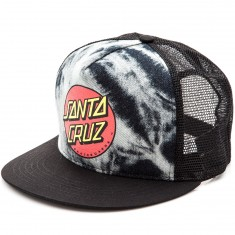 Santa Cruz Classic Dot Trucker Mesh Hat - Black/Tie Dye