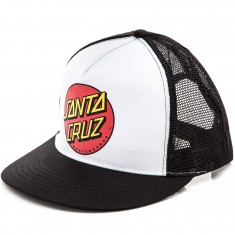 Santa Cruz Classic Dot Trucker Mesh Hat - Black/White