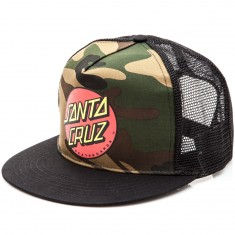 Santa Cruz Classic Dot Trucker Mesh Hat - Camo/Black