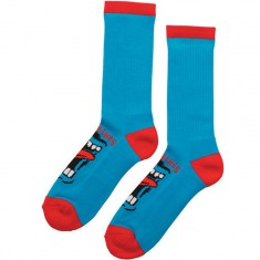 Santa Cruz Screaming Crew Socks - Blue