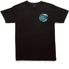Santa Cruz Wave Dot T-Shirt - Black