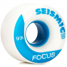 Seismic Focus Longboard Wheels - 55mm 97a White