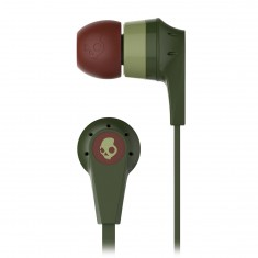Skullcandy Ink'D 2.0 Micd Headphones - Olive/Burgundy/Sage
