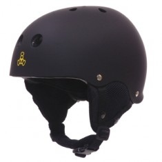 Triple Eight Old School Snow Helmet w/ Audio - Black Rubber